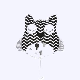 Musicbox Owl Black&White cactus