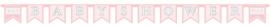 Babyshower letterlijn roze