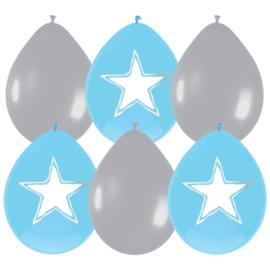 Ballonnen Star/Hart blauw