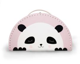 panda koffertje pink