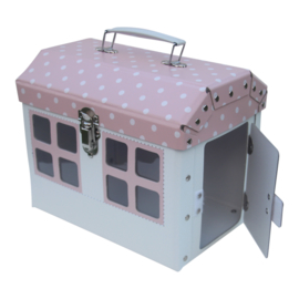 suitcase house pink