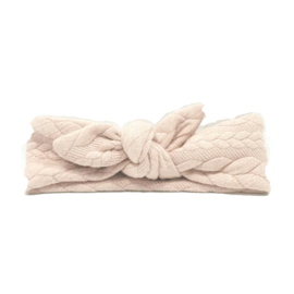 baby headband knot 'cable' sand
