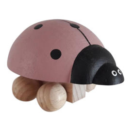 wooden ladybug - dusty pink