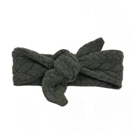 baby headband knot 'cable' huntergreen