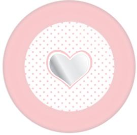 Bordjes Star/Hart roze