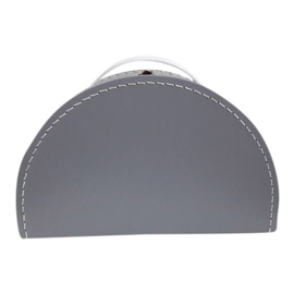halfrond koffertje grijs