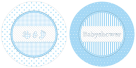 Babyshower bordje blauw