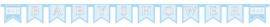 Babyshower letterlijn blauw