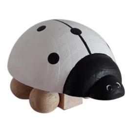 wooden ladybug - white