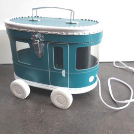 speelkoffertje petrol tram