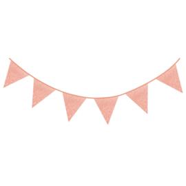 Vlaggenlijn glitter baby Pink