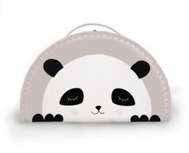 panda koffertje sand