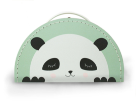 panda koffertje mint