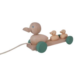 wooden pull along ducks - nordic