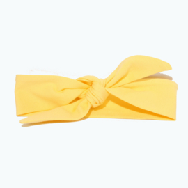 "Baby headband tie knot ""Uni"" yellow"