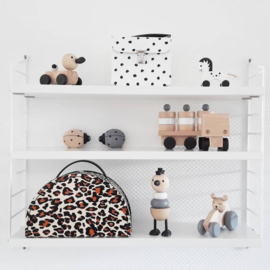 suitcase with leopard print