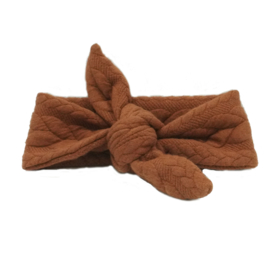 baby headband knot 'cable' rust