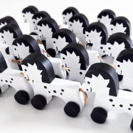 houten paardje op wieltjes