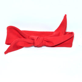 "Baby headband tie knot ""Uni"" red"