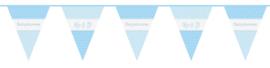 Babyshower vlaggenlijn blauw