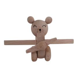 wooden airplane bear