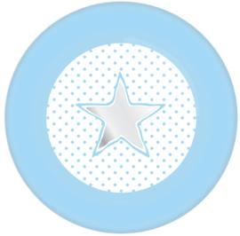 Bordjes Star/Hart blauw