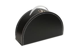 halfrond koffertje zwart