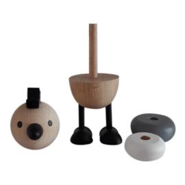 houten stapelaar kip - monochrome