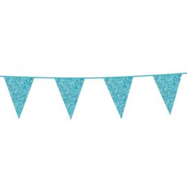 Vlaggenlijn glitter baby blue