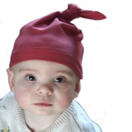 Babymutsje Geknoopt New Born 0-3 mnd woodchuck