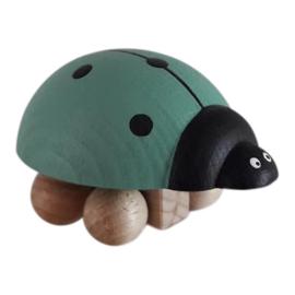 wooden ladybug - green