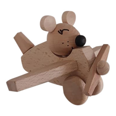 houten vliegtuig muis