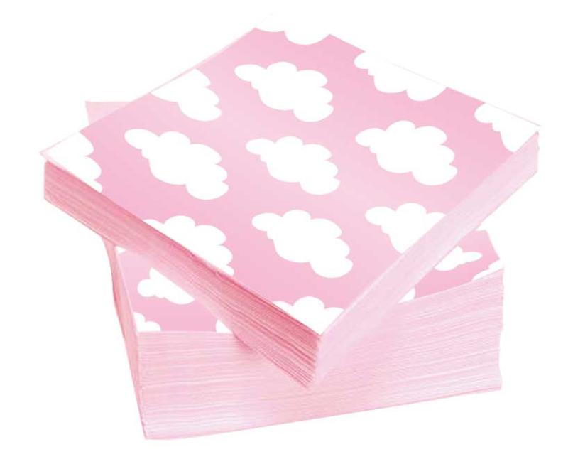 Servetten Star/Hart roze