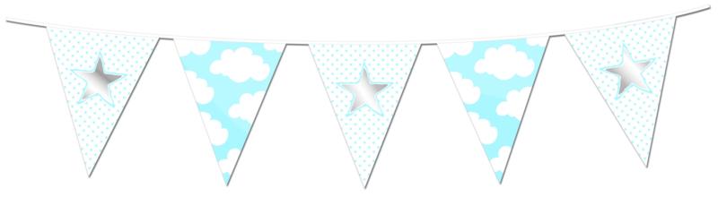Vlaggenlijn Star/Hart blauw