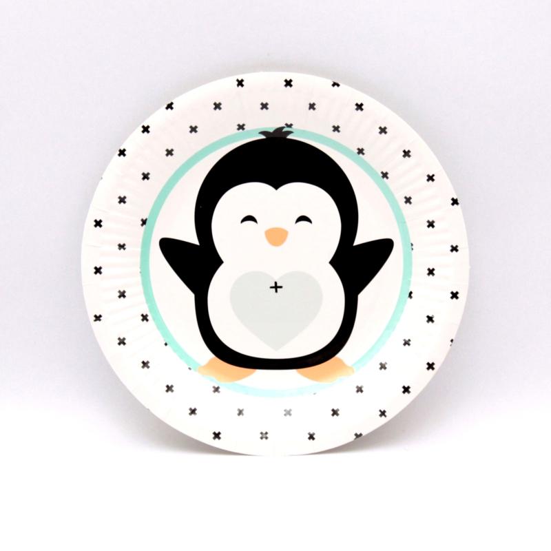 "Bordjes ""Hello Lovely Pinguïn"" zwart/mint"