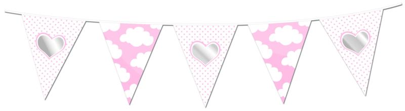 Vlaggenlijn Star/Hart roze