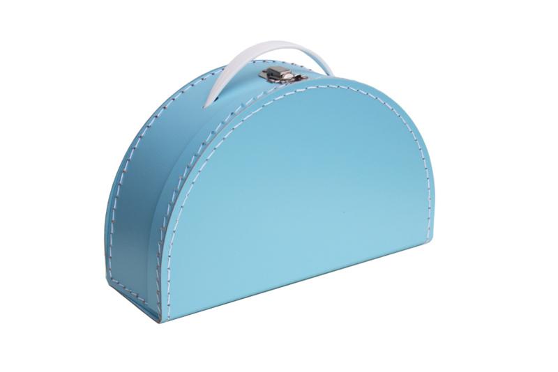 halfrond koffertje lichtblauw