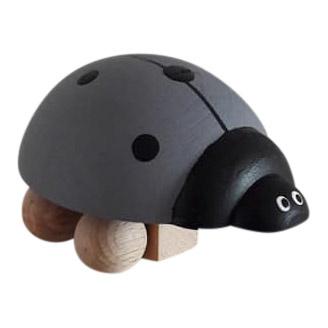 houten lieveheersbeestje - grijs