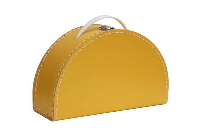 halfmoon suitcase yellow ochre