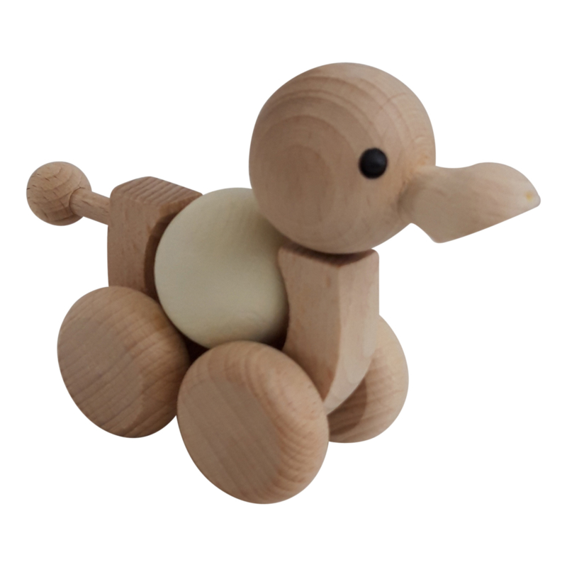 duck with spinning ball