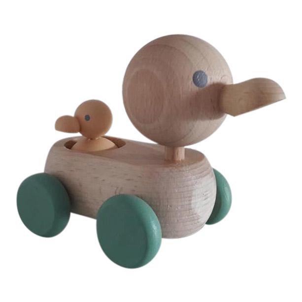 houten mama & baby eendje nordic