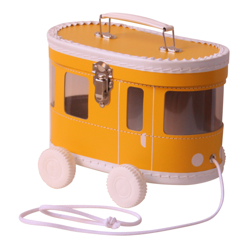 speelkoffertje okergele tram