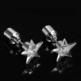 LED oorbellen - sterretjes