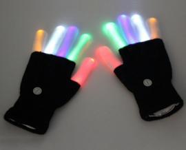 LED handschoenen (zwart/wit)