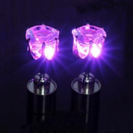 LED oorbellen - rond steentje