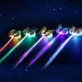 LED haarclip - Vlinder, 2 stuks