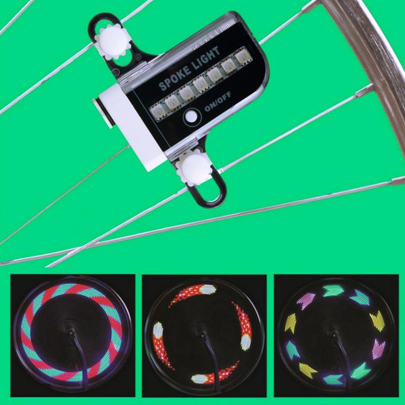 LED wielverlichting fiets - verschillende patronen