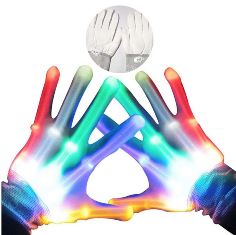 LED handschoenen (wit)