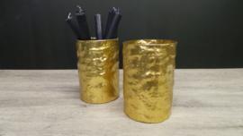 Windlicht goud glas