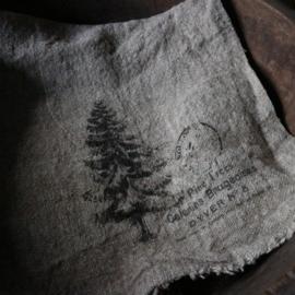 """Shabby linnen  """"Kerstboom""""(30x45 cm)"""
